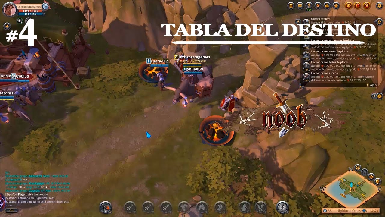 Albion Online 4 Tabla Del Destino Y Expediciones Gameplay Español Youtube