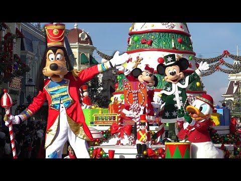 [4K] Disney's Christmas Parade 2019 - La Parade de Noël Disney - Disneyland Paris