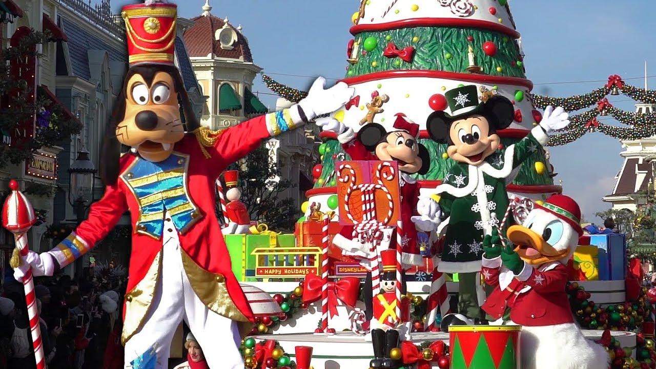 4K] Disney's Christmas Parade 2019 - La Parade de Noël Disney - Disneyland  Paris - YouTube