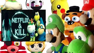 SML Movie: Netflix and Kill Mario And Luigi Reaction (Freddy,Foxy,Pikachu,Bowser Jr, Puppet & Link)