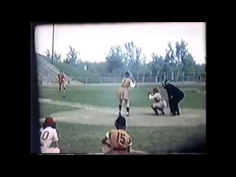 AAGPBL Rockford Peaches vs Peoria Redwings in 1949