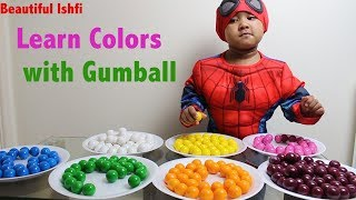 Learn Colors with Double Bubble Gumball | Beautiful Ishfi