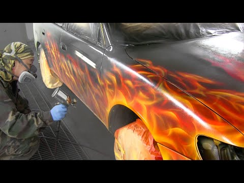 Painting Method Like a Flame with Candy Painting / Custom Paint and Airbrush