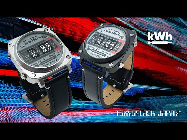kWh Revolving Watch | Tokyoflash Japan