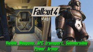 Fallout 4 Mods #24 - Visible Weapons, APC transport e Submersible Power Armor (Português - BR)