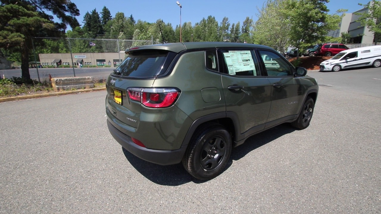 2017 Jeep Compass Sport Olive Green Ht672606 Redmond