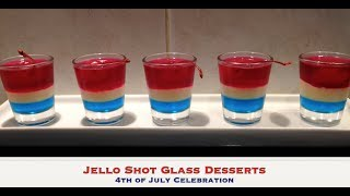 4th Of July Jello Shot Glass Dessert Tutorial Cheekyricho