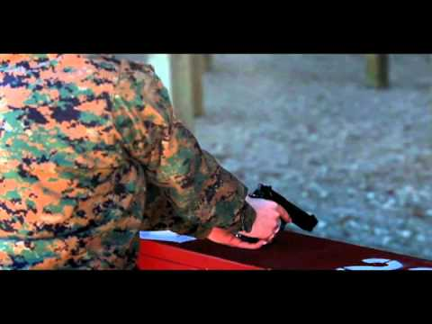 II Marine Expeditionary Force (Forward) Marines Shoot Pistol Qualification