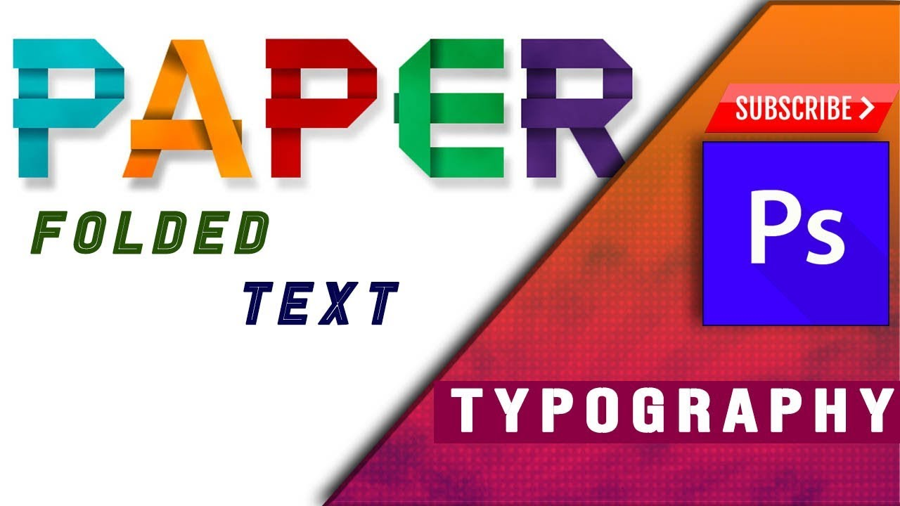 FOLDED PAPER FONT IN PHOTOSHOP