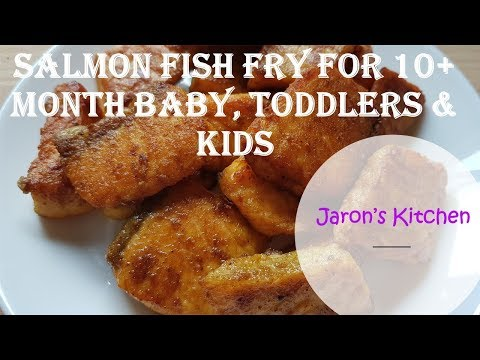 Salmon Fish Fry For 10+ Month Baby, Toddlers & Kids / How To Make Salmon Fish For Babies
