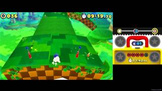 Sonic Lost World (3DS) ~ Windy Hill Zone 1 - 1:34:93