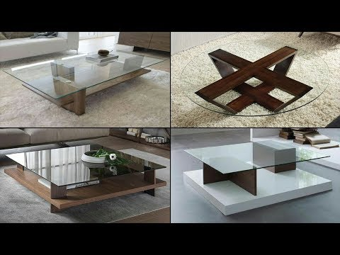 Wooden Centre Table Designs With Glass Top 2018