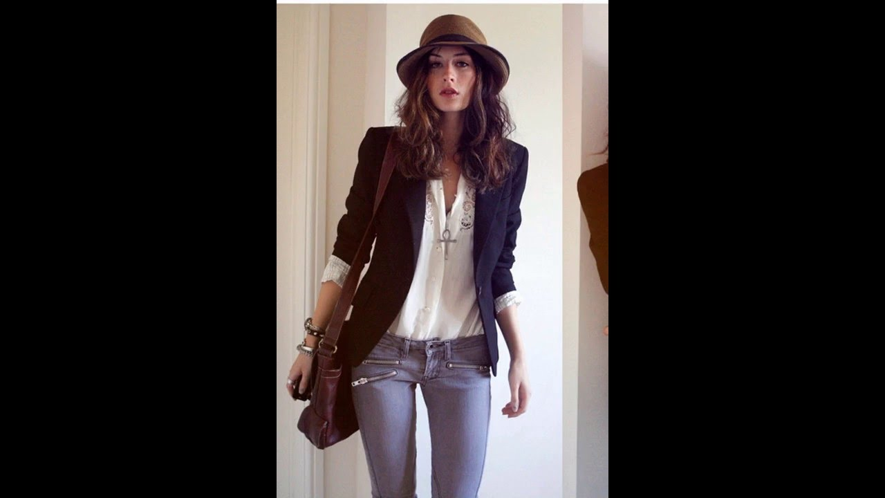 Outfits con jeans y blusa blanca - YouTube