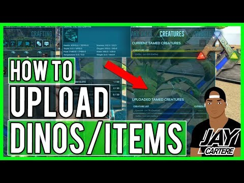Ark Survival Evolved PS4 Tutorial - How To Upload Dinos/Items - How