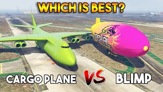 GTA 5 ONLINE : CARGO PLANE VS BLIMP (WHICH IS BEST?)