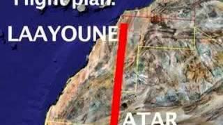 Flightplan: Laayoune (W.Sahara or Morrocco, you choose) to Atar (Mauritania)