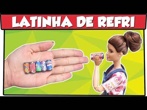 Como fazer: Lata de Refrigerante para Barbie, Monster High, Baby Alive entre outras!