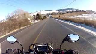 Christmas Eve Sunshine and a Motorcycle