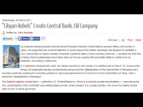 """Libyan Rebels"" Create Central Bank, Oil Company"
