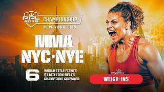 PFL Championship New Year's Eve on ESPN2   7p ET   2019 - Weigh-ins