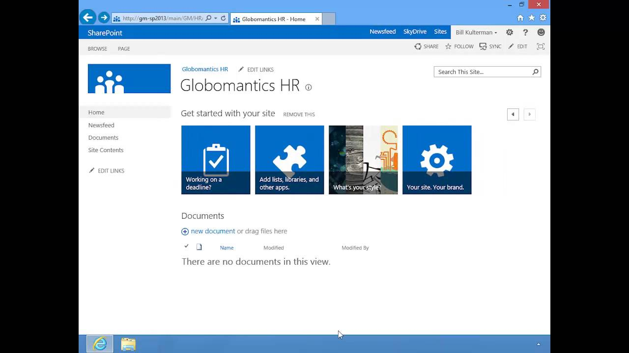 Sharepoint 2013 Team Sites Youtube
