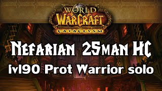 solo nefarian 25man hc    protection warrior lvl 90    blackwing descent