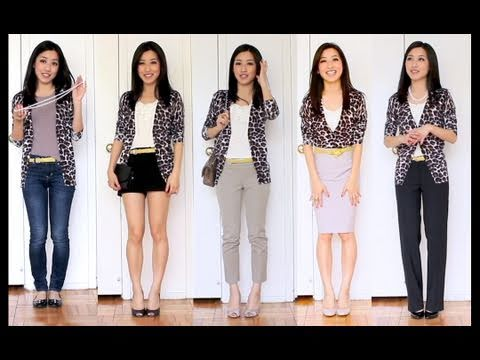 4cab807599 How to Style a Leopard Cardigan for Casual and Work Wear - YouTube
