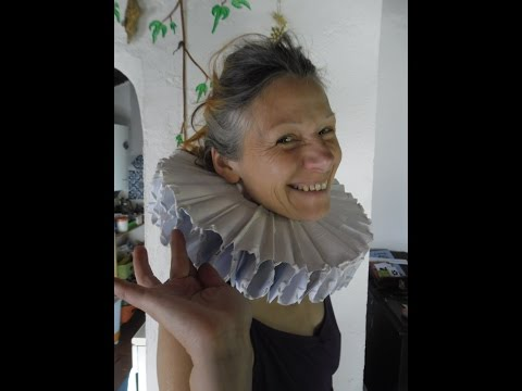 How to make a paper maché Elizabethan ruff