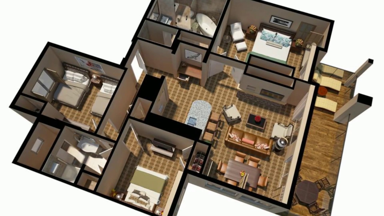3D Floor Plan Renderings And House Plans