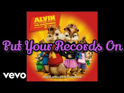 The Chipettes - Put Your Records On (Audio)