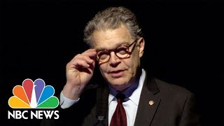 Sen. Franken Chokes Up While Thanking His Wife For Her Loyalty   NBC News