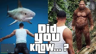 GTA 5 Secrets and Facts 2! Easter Eggs, Sharks, Bigfoot, CJ, Myths