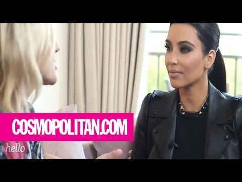 Kim Kardashian Plays with Makeup | Harper
