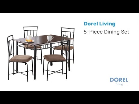 Mainstays Wood and Metal Dining Set - Assembly Video