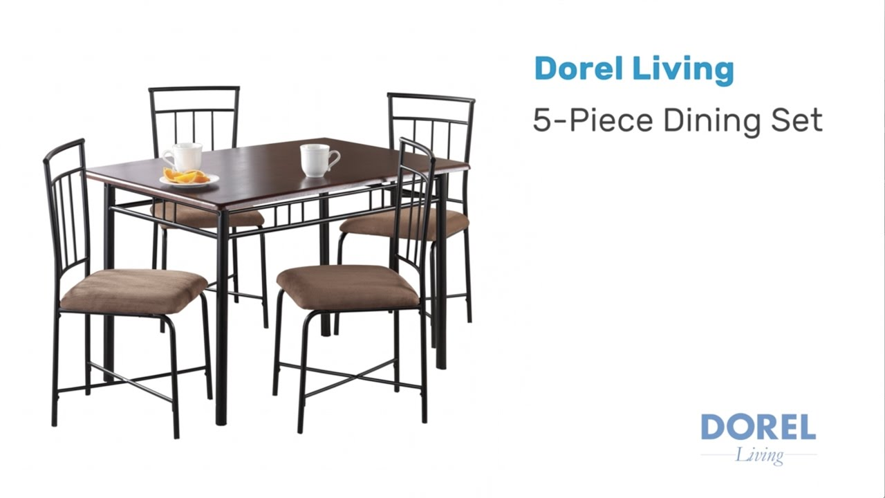 Mainstays Wood And Metal Dining Set   Assembly Video