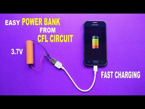 Make Easy Power Bank From Old CFL Tube Circuit..Diy Power Bank..3.7 volt To 5 Volt Boost Converter..
