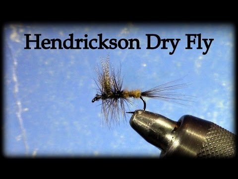 Fly Tying: Hendrickson Dry Fly with Uncle John