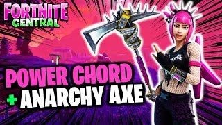 POWER CHORD + ANARCHY AXE (Gameplay) // Fortnite // STAGE DIVE