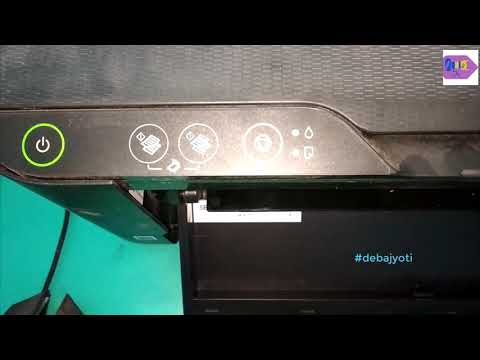 Head cleaning of Epson L3110 Step by Step in Hindi   Fix printing problem of Epson L3110 Debajyoti