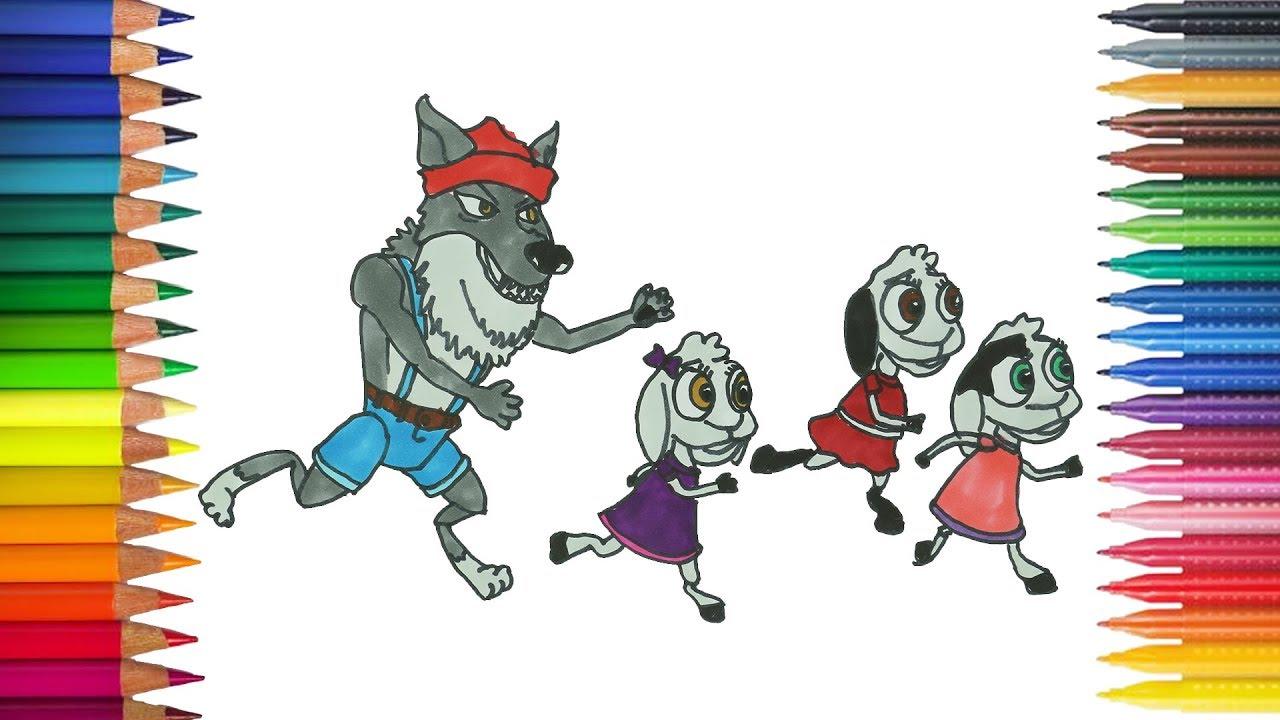 Der Wolf Und Die Sieben Jungen Geisslein Zeichnung Ausmalbilder Youtube