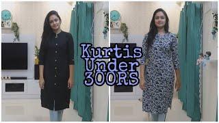Meesho Kurti Haul Under 300RS || Budget Kurti Haul || HEAVENLY HOMEMADE
