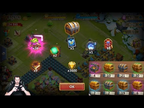 JT's Free 2 Play Evolving 2 Heroes Opening Warehouse Goodies Castle Clash