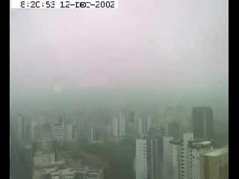 brazil belo horizonte city rainy day