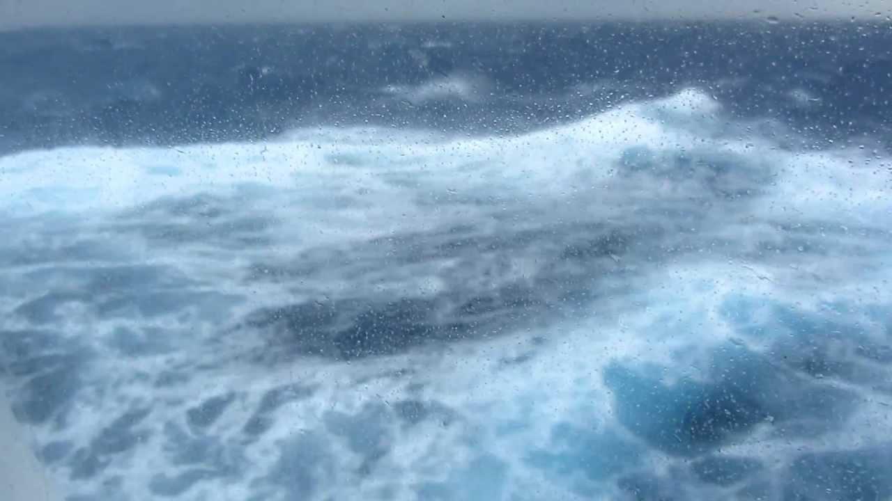 Cruise Ship In Rough Weather Rough Seas Oceania Nautica In Force 11 Gale In Mediterranean 2012