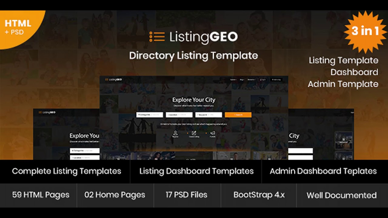 ListingGEO - Directory Listing Template | Themeforest Website ...