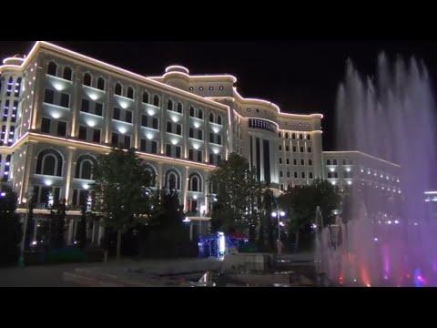 Душанбе.  Фантастический ночной Душанбе