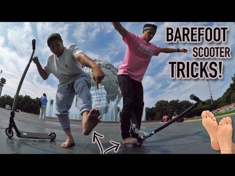 BAREFOOT SCOOTER TRICKS!