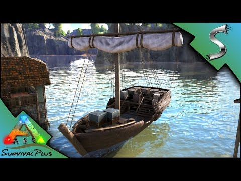 EPIC SAILING SHIP! LEEDSICHTHYS ATTACKS OUR BOAT! - Ark: Survival Plus [Gameplay E14]