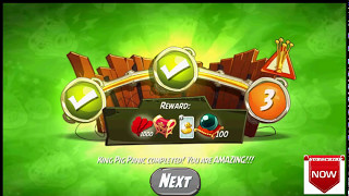 Beat The Daily Challenge King Pig Panic Completed in Angry Birds 2 MONDAY ( 2 )