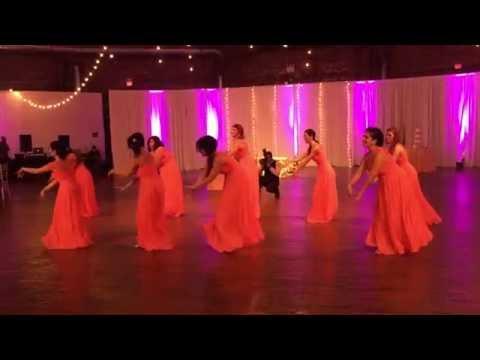 Bridesmaids dance: Meena & Mohammad's Wedding. June 18, 2016.
